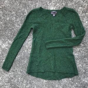 Dark Heather Green 100% Cashmere Sweater, EUC